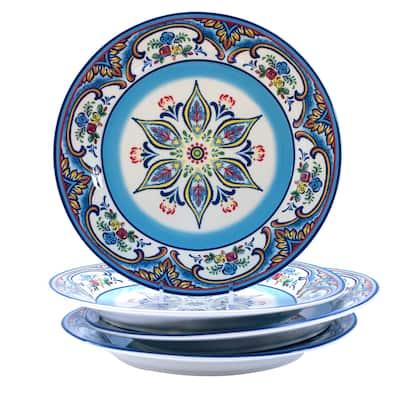 Euro Ceramica Zanzibar Earthenware Dinner Plates (Set of 4)