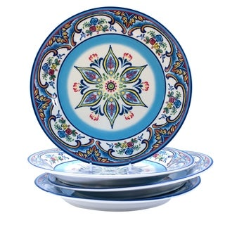 Euro Ceramica Zanzibar Dinner Plates (Set of 4)
