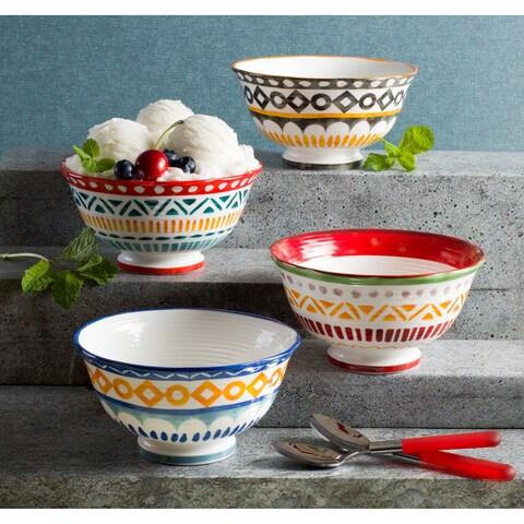 Euro Ceramica Amalfi Assorted Soup Bowls (Set of 4)