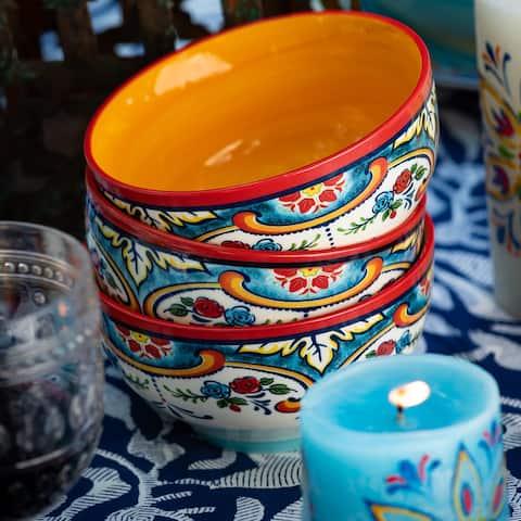 Euro Ceramica Zanzibar Earthenware Cereal Bowls (Set of 4)