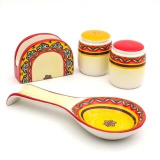 Euro Ceramica Galicia 4-piece Completer Set