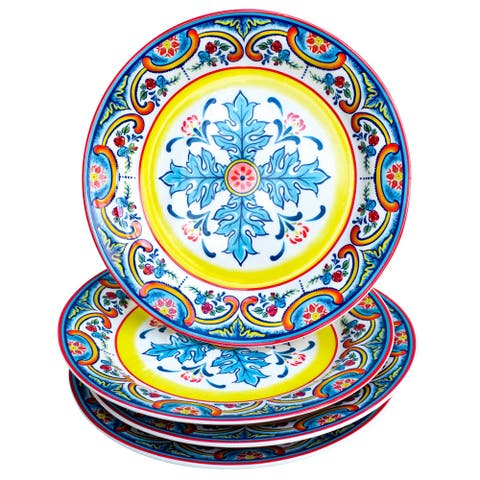 "Euro Ceramica Zanzibar Ceramic 8"" Salad Plate (Set of 4)"