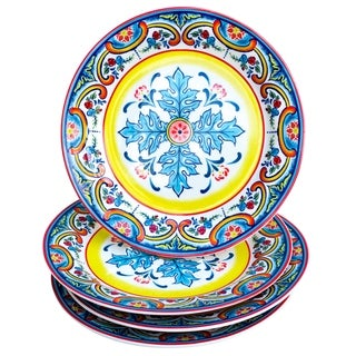 "Euro Ceramica Zanzibar Ceramic 8"" Salad Plate (Set of 4)"
