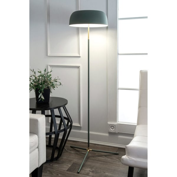 Watch Hill 60'' Phoebe Brass & Iron Shade Floor Lamp