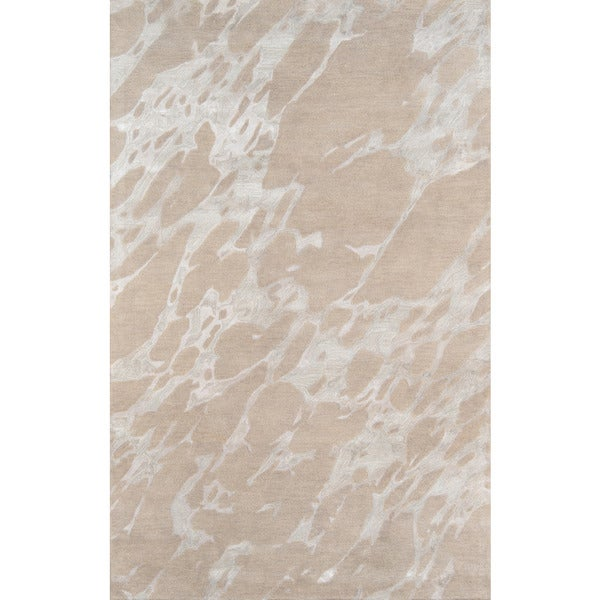 Hand-Tufted Serenity Nouvel Sand Wool with Viscose Rug - 8' x 11'