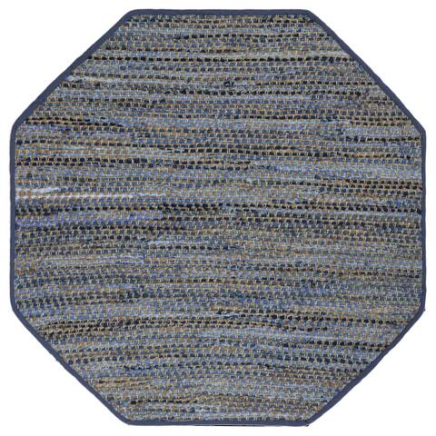 Earth First Blue Jeans (4'x4') Octagon Rug - 4' x 4'