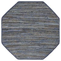 Earth First Blue Jeans Octagon Rug - 4'x4'