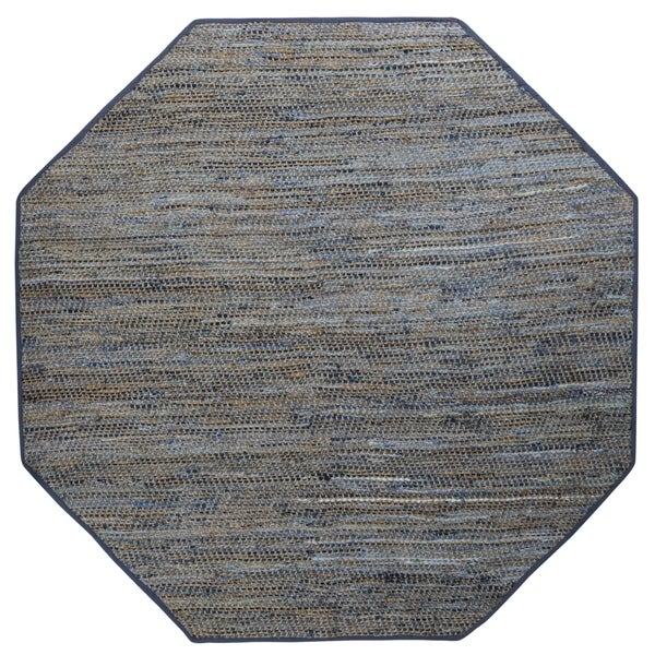 Earth First Blue Jeans Octagon Rug (6' x 6')