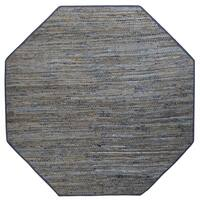 Earth First Blue Jeans Octagon Rug - 6' x 6'