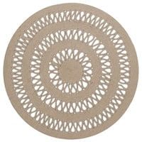 Earth First Jute Loop Stitched (3x3') Round Rug