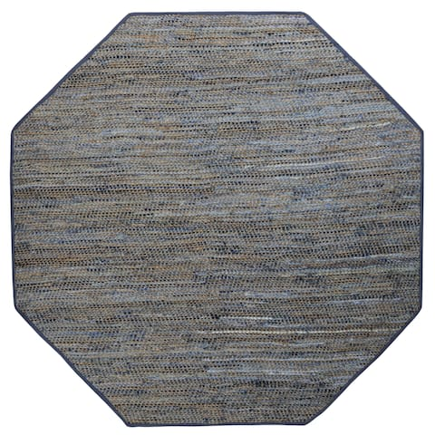 Earth First Blue Jeans (10'x10') Octagon Rug - 10' x 10'