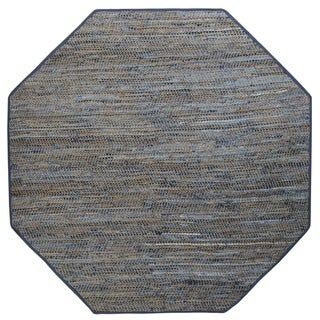 Earth First Blue Jeans Blue Hemp Area Rug (10' x 10')