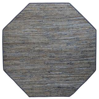 Earth First Blue Jeans Octagon Rug 6 X