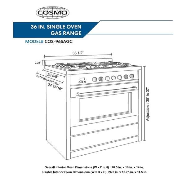 3 8 Cu Ft Single Oven Gas Range
