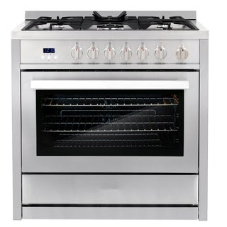 Cosmo 36-inch Free-Standing 5 Burner Convection Gas Range