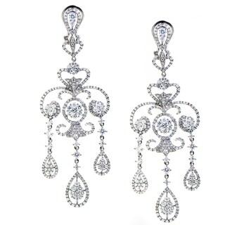 Women's White Gold Diamond Chandelier Earrings
