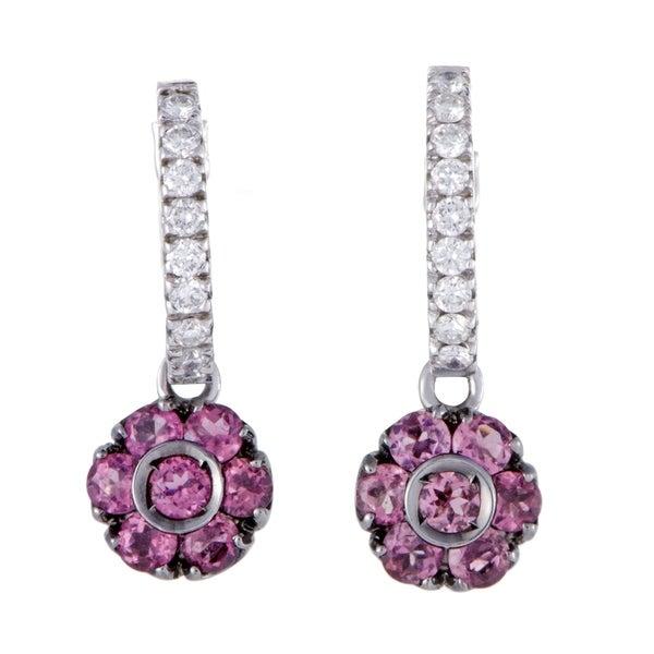 36a4be1c880ce Shop Pasquale Bruni Fiori White Gold Diamond and Pink Tourmaline ...