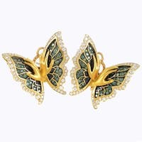 Magerit? Versailles Women's Yellow Gold Multi-Diamond Mariposa Earrings