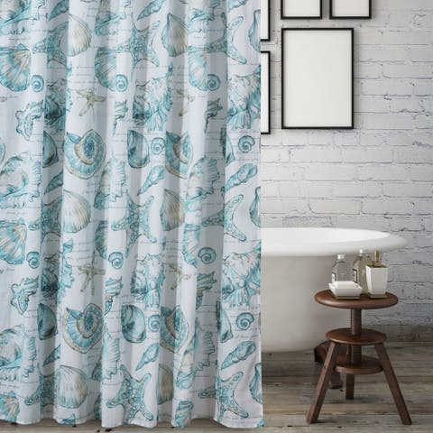 Barefoot Bungalow Cruz Coastal Shower Curtain