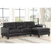 Abbyson Landis Top Grain Leather Sectional