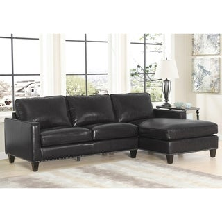 Abbyson Landis Top Grain Leather Sectional (2 options available)