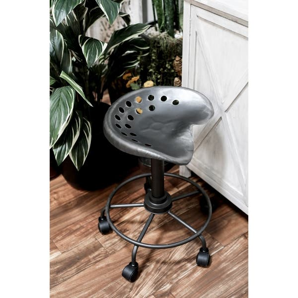 Remarkable Shop Modern 22 Inch Iron Adjustable Bar Stool With Wheels By Creativecarmelina Interior Chair Design Creativecarmelinacom