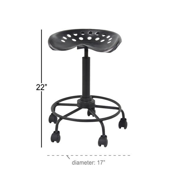 Surprising Shop Modern 22 Inch Iron Adjustable Bar Stool With Wheels By Creativecarmelina Interior Chair Design Creativecarmelinacom
