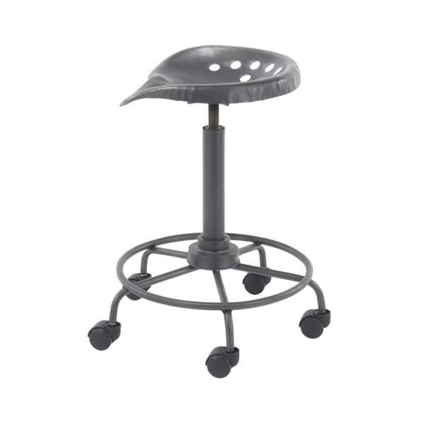 Incredible Shop Modern 22 Inch Iron Adjustable Bar Stool With Wheels By Creativecarmelina Interior Chair Design Creativecarmelinacom