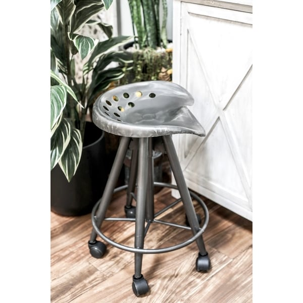 Shop Modern 23 Inch Iron Adjustable Bar Stool With Wheels By Studio