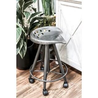 23 inch Modern Iron Adjustable Bar Stool with Wheels