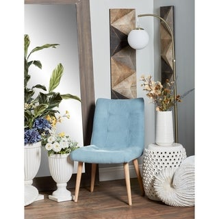 Contemporary Wood and Fabric Tufted Dining Chair
