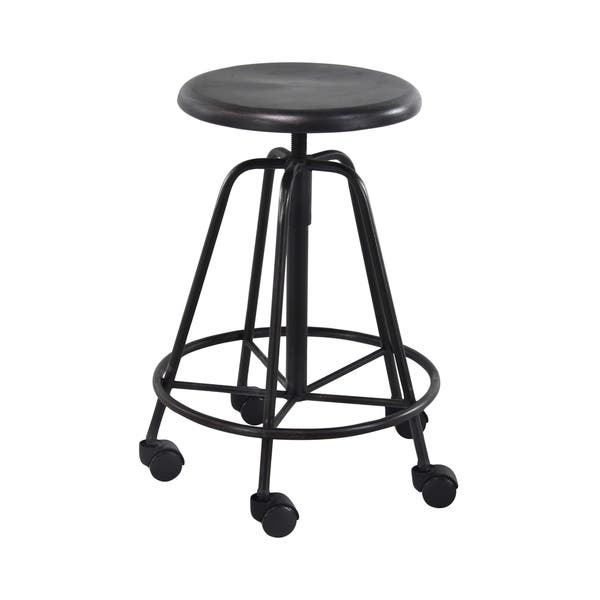 Incredible Shop Modern 24 Inch Adjustable Iron Bar Stool With Wheels By Creativecarmelina Interior Chair Design Creativecarmelinacom