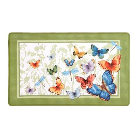 Anti Fatigue Mat 18in. x 30in. - Butterflies - 18x30