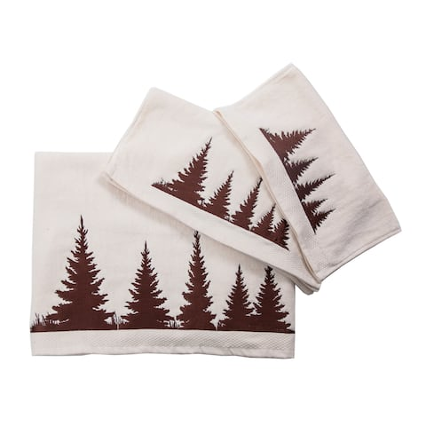 3 PC Towel Set Clearwater Pines, 3-pc Cream