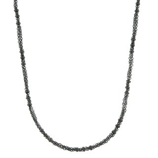 Downton Abbey Black Tone Large Bead Stations Chain Necklace 36in