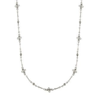 Downton Abbey Silver Tone Opera Length Necklace 36in