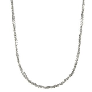 Downton Abbey Silver Tone Large Bead Stations Chain Necklace 36in