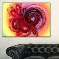 Waves Around the Hearts - Abstract Large Abstract Art Canvas Print
