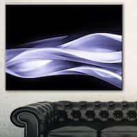 Designart 'Fractal Lines Purple in Black' Abstract Digital Art Canvas Print