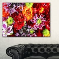 Colorful Flowers Background - Large Floral Wall Art Canvas