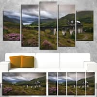 Glenfinnan Viaduct, Scotland - Landscape Photo Canvas Print - Green