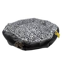 ALEKO Soft Plush Pet Bed With Removable Insert Pillow