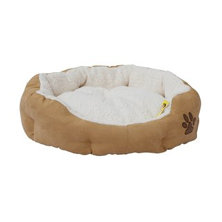 ALEKO Soft Plush Dog Cat Pet Bed With Removable Insert Pillow