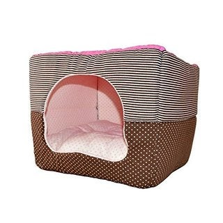 ALEKO Soft Dog and Cat Pet Bed & House with Convertible Hood