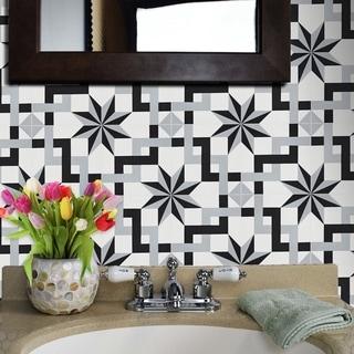 """Handmade Sahara in Gray Tile, Pack of 12 - 8"""" x 8"""" (Morocco)"""