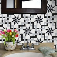 Sahara in Black and Grey handmade 8x8-inch Moroccan tile (pack 12)