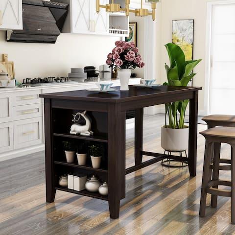 Carson Carrington Bolgheri Dark Walnut Counter Height Dining Table