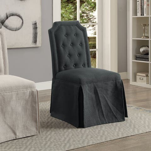 Furniture of America Coss Transitional Fabric Side Chairs (Set of 2)