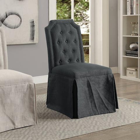 Eriss Transitional Button Tufted Skirted Side Chair (Set of 2) by FOA