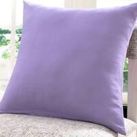 Cotton Linen Pillow Case Lavender Solid 18 x 18
